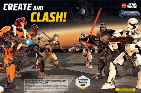 LEGO Star Wars Constraction Figures from LEGO Club Magazine