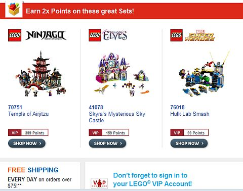 Shop LEGO October Offers