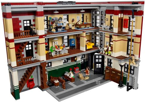 #75827 LEGO Ghostbusters Firehouse Details