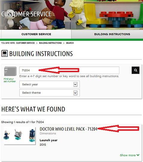 LEGO Dimensions Instructions Details