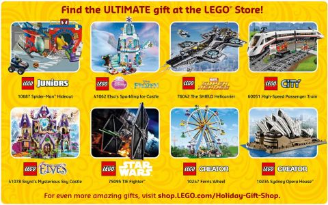 LEGO Store Calendar December 2015 Large Gifts