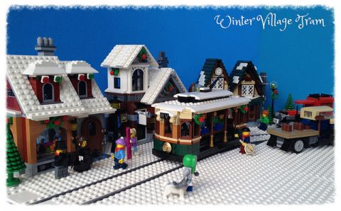 LEGO Winter Village Tram by Miro 2