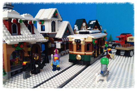 LEGO Winter Village Tram by Miro 9