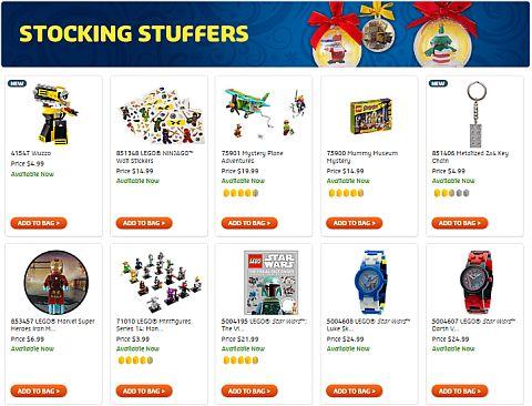 Shop LEGO Holiday Gift Shop Stocking Stuffers