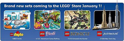 LEGO Calendar January 2016 Details