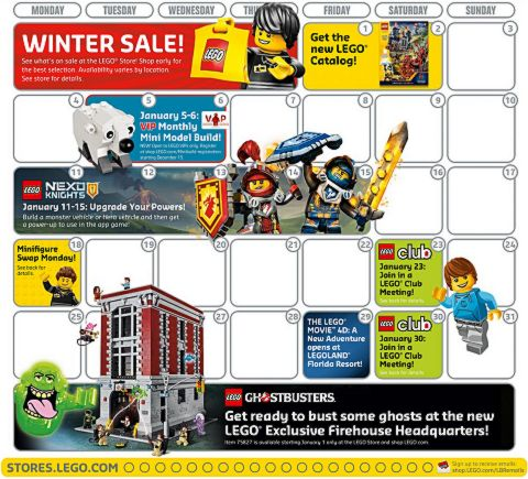 LEGO Calendar January 2016 Events