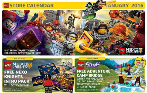 LEGO Calendar January 2016