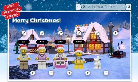LEGO Holiday Postcard Step 2