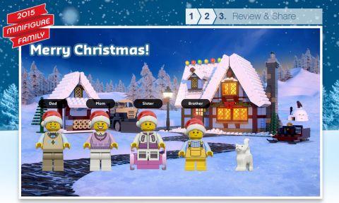 LEGO Holiday Postcard Step 3
