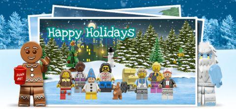 LEGO Holiday Postcard