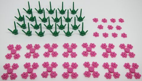 LEGO FLowering Tree Tutorial by Ruben Ras Parts