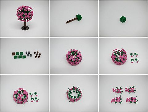 LEGO Flowering Tree Tutorial by Ruben Ras Steps