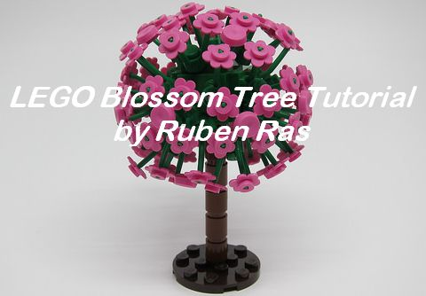 LEGO Flowering Tree Tutorial by Ruben Ras