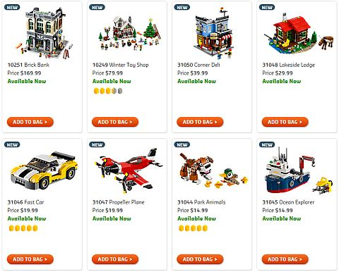 Shop 2016 LEGO Creator