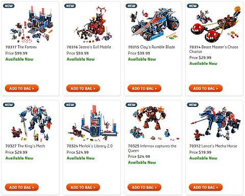 Shop 2016 LEGO Nexo Knights
