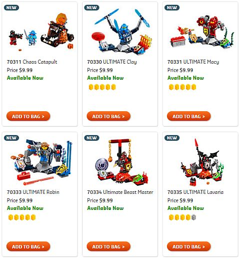 Shop LEGO Nexo Knights Packs