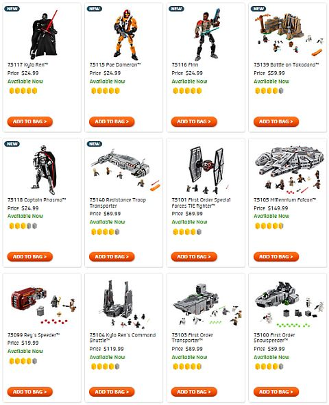 Shop LEGO Star Wars The Force Awakens Sets