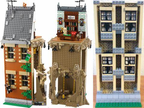 #76052 LEGO Batman Batcave Review Walls