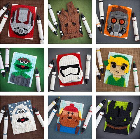 Chris McVeigh - LEGO Brick Sketches