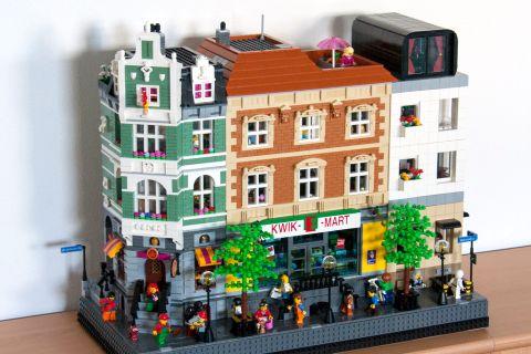 LEGO Modular Kwik-E-Mart 1 by cimddwc