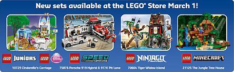 LEGO Store Calendar April 2016 - New Sets