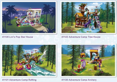 LEGo Friends Adventure Camp Collection