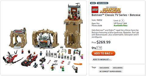 Shop LEGO Batman Batcave