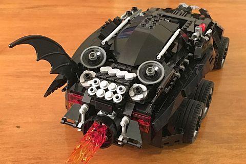 The LEGO Movie Batmobile Back by Warvanov