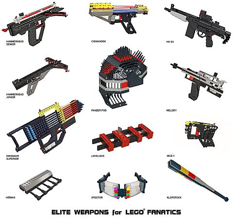 LEGO Book - Elite Weapons Models
