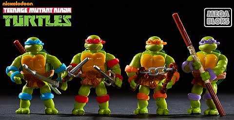 LEGO and Mega Bloks Ninja Turtles 3