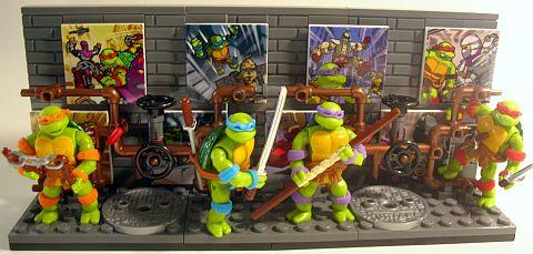 LEGO and Mega Bloks Ninja Turtles 8