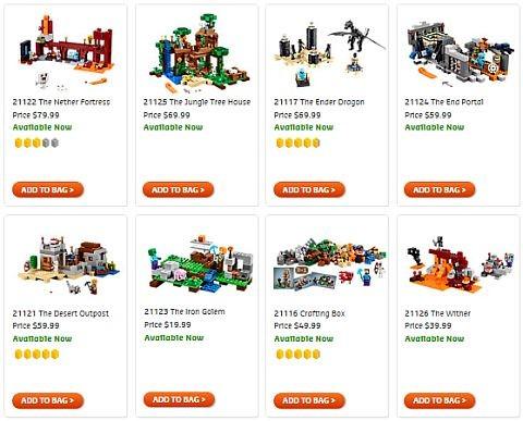 Shop 2016 Spring LEGO Minecraft