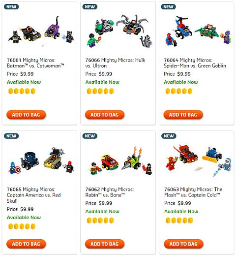 Shop LEGO Super Heroes Mighty Micros