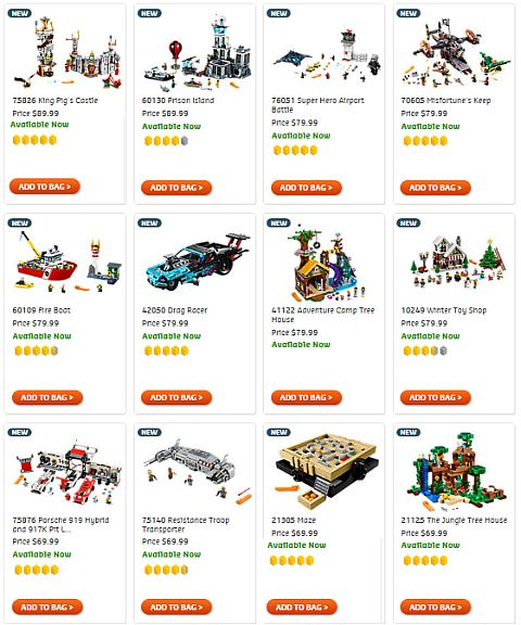 Shop New LEGO Sets