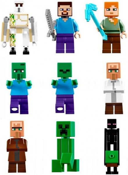 #21128 LEGO Minecraft The Village Minifigures