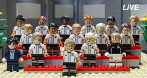 LEGO German Soccer Team Minifigs