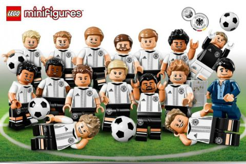 LEGO German Soccer Team Minifigures