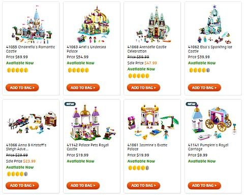 Shop LEGO Disney Princess