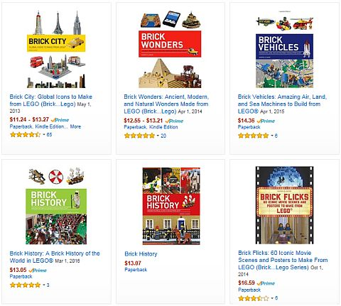 LEGO Brick History Books on Amazon