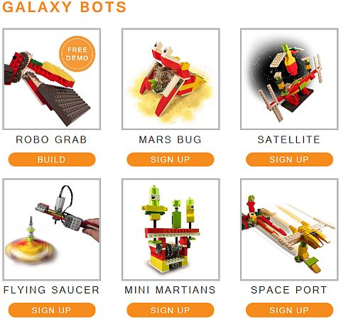 LEGO Education WeDo Yantra Robotics Galaxy Bots