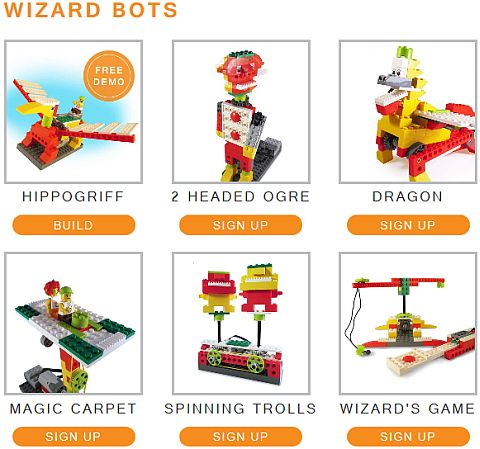 LEGO Education WeDo Yantra Robotics Wizard Bots
