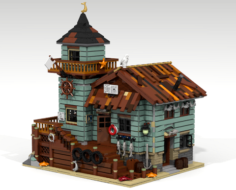 LEGO Ideas Review Period Fishing Store