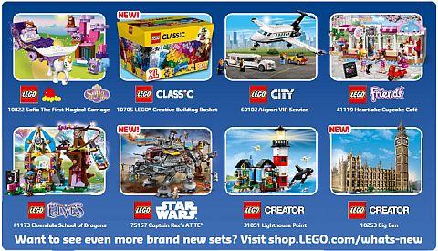 LEGO Store Calendar July 2016 Back