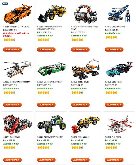 Shop LEGO Technic Sets