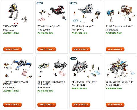 Shop Summer LEGO Star Wars Sets