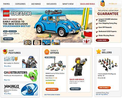Online LEGO Shop Current Site