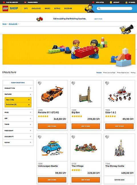 Online LEGO Shop New Website Shop