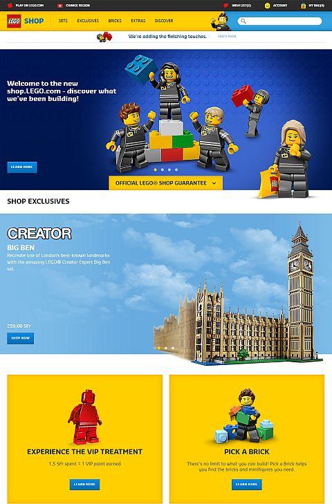 Online LEGO Shop New Website