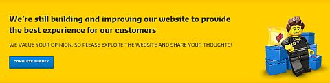Online LEGO Shop Update New Design Survey