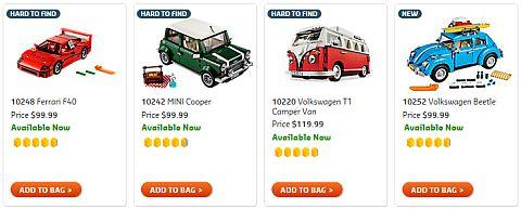 Shop LEGO Creator Cars